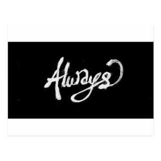 ALWAYS PROMISES LOVE FRIENDSHIP LOYALTY EXPRESSION POSTCARD