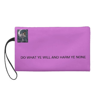 ALWAYS PROTECTED BY WICCA WRISTLET PURSE