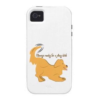 Always Ready For A Play Date! Case-Mate iPhone 4 Covers