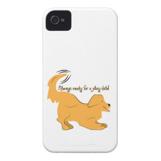 Always Ready For A Play Date! iPhone 4 Case-Mate Cases
