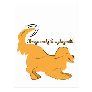 Always Ready For A Play Date! Postcards