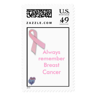 Always remember breast cancer stamps