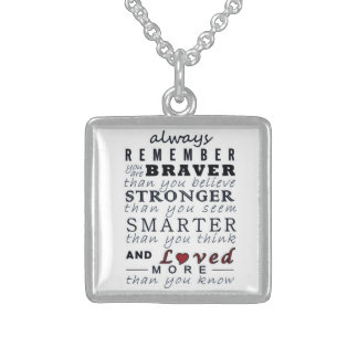 Always Remember Square Pendant Necklace