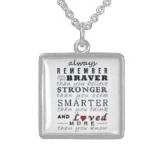 Always Remember Sterling Silver Necklace at Zazzle