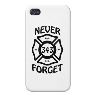 Always remember the 11th of September, and the 343 iPhone 4 Case