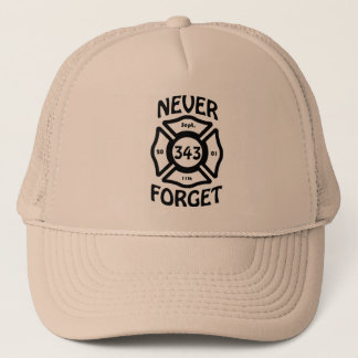 Always remember the 11th of September and the 343 Trucker Hat