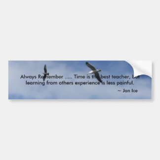 Always Remember ..... Time is the ... Bumper Sticker