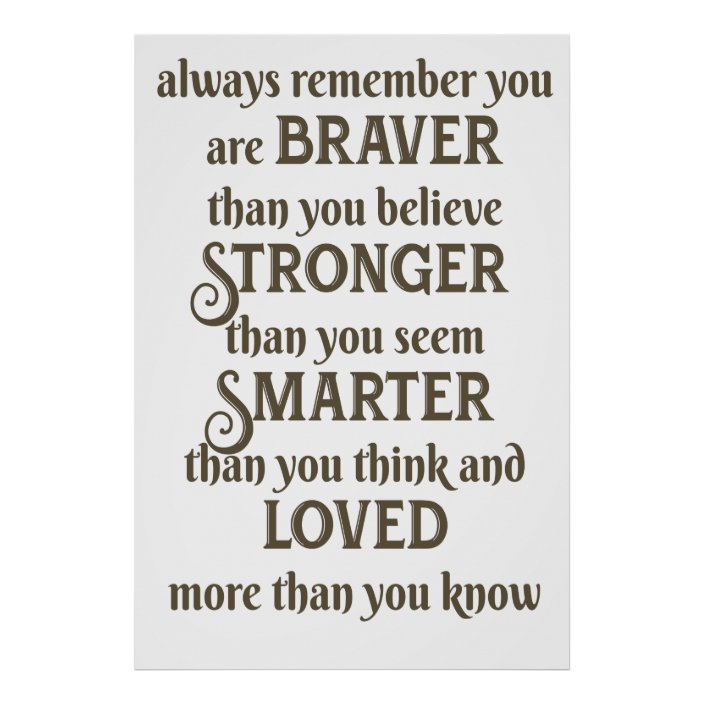 "/""Always remember you are braver than you believe.../"" Personalised Wall Plaque"