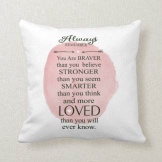 Always Remember You Are Loved More Than You Know Throw Pillow
