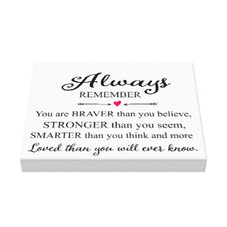 Always Remember You Are Loved Wall Print Canvas Print