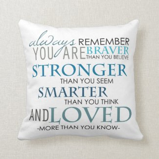 Always Remember You Are The Best Text Pillow