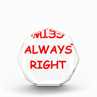 always right acrylic award