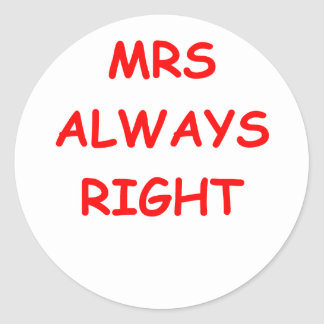 always right classic round sticker