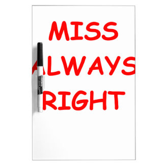 always right Dry-Erase whiteboards