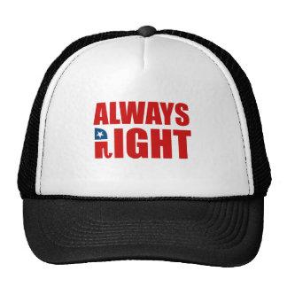 ALWAYS RIGHT TRUCKER HAT
