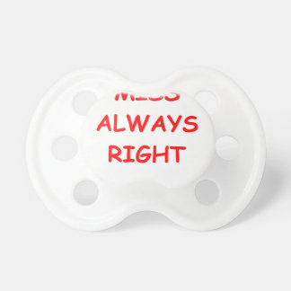 always right BooginHead pacifier