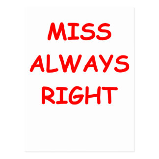 always right postcard