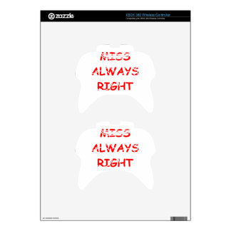 always right xbox 360 controller decal