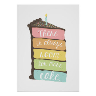 Always Room for Cake Art Print