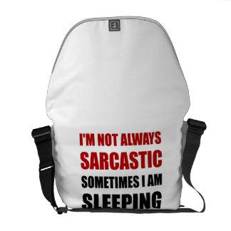 Always Sarcastic Sleeping Courier Bag