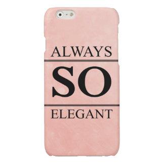Always so elegant glossy iPhone 6 case