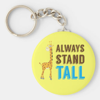 Always Stand Tall, Never Give Up Inspirational Keychain
