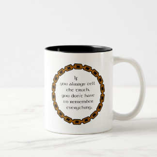 Always tell the truth Two-Tone coffee mug