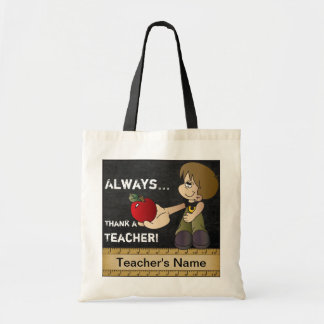 Always Thank a Teacher | DIY Text Budget Tote Bag