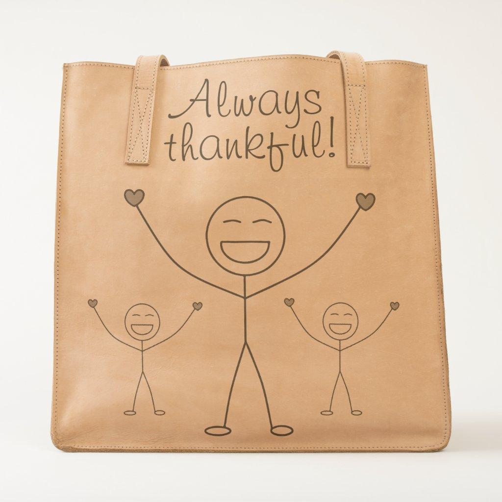 Beautiful Gratitude Print Tote