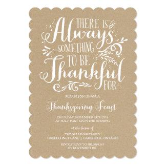 Always Thankful | Kraft Thanksgiving Invitation