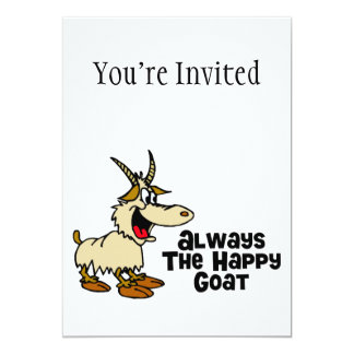 Always The Happy Goat 5x7 Paper Invitation Card