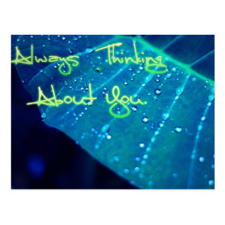 Always  think about you. postcard