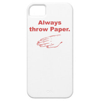 Always Throw Paper iPhone 5 Cover
