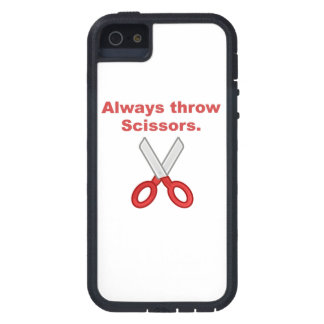 Always Throw Scissors Cover For iPhone 5