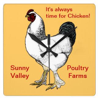 Always Time for Chicken Restaurant or Farm Kitchen Wallclock