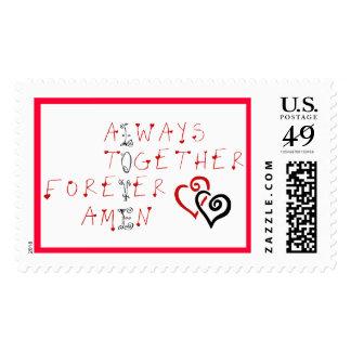 Always Together Forever Amen LOVE Postage