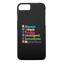 Always Unique Totally Intelligent Autism iPhone 8/7 Case