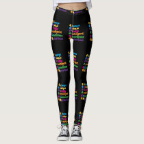 Always Unique Totally Intelligent Autism Leggings