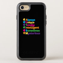 Always Unique Totally Intelligent Autism OtterBox Symmetry iPhone 8/7 Case