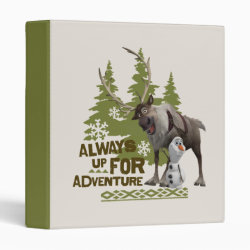 Avery Signature 1' Binder with Sven & Olaf - Always Up for Adventure design