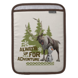 iPad Sleeve with Sven & Olaf - Always Up for Adventure design