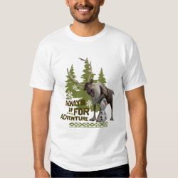 Men's Basic T-Shirt with Sven & Olaf - Always Up for Adventure design