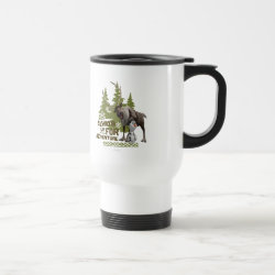 Travel / Commuter Mug with Sven & Olaf - Always Up for Adventure design