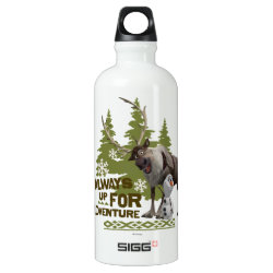 SIGG Traveller Water Bottle (0.6L) with Sven & Olaf - Always Up for Adventure design