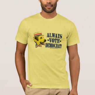 Always Vote Democrat - Yellow Dog Shirt