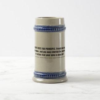Always Vote For Principle John Quincy Adams Beer Stein