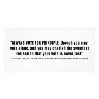 Always Vote For Principle John Quincy Adams Card