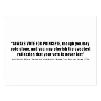 Always Vote For Principle John Quincy Adams Postcard