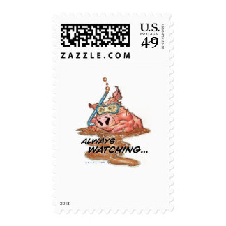 Always Watching Postage Stamps