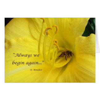 Always we begin again... card